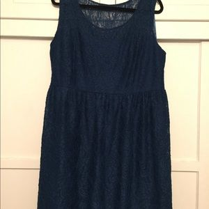 Midnight blue lace dress